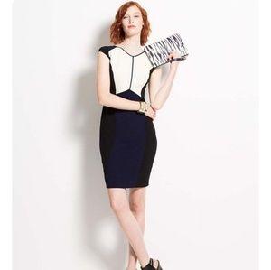 NWT Ann Taylor Colorblock Sheath Dress